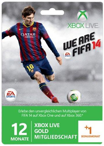 Xbox Live - Gold-Mitgliedschaft 12 + 1 Monate - Im Design Von FIFA 14 [Importación Alemana]