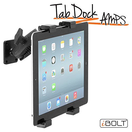 iBOLT tabdock Amps–Heavy Duty Drill Boden Halterung für alle 17,8cm–25,4cm Tablets (iPad, Samsung Tab) für Autos, Schreibtische, Theken: Ideal für Nutzfahrzeuge, Lkws, Häuser, Schulen und Unternehmen