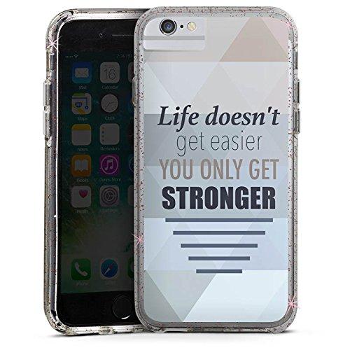 Apple iPhone X Bumper Hülle Bumper Case Glitzer Hülle Motivation Workout Sprüche Bumper Case Glitzer rose gold