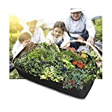 Fabric Raised Garden Bed Rectangle Atmungsaktiver Pflanzbehälter Grow Bag Planter Pot für Pflanzen Blumen Gemüse