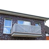 Beige & Antracita Smart Deko, balcones, Wind Protector para balcones, privacidad y protección UV para balcón, jardín Instalaciones, camping y tiempo libre, plástico, Grau&Anthrazit, 200x90cm