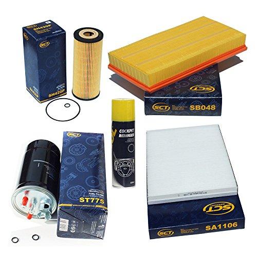 paquet-dinspection-sct-charbon-actif-filtre-a-pollen-pour-vw-bora-golf-iv-4-1j-19-tdi-filtre-a-air-f