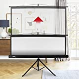 Duronic Projector Screen TPS86/43 (Black) Projection Screen For | School | Theatre | Cinema | Home | Tripod Projector Screen - 86- 4:3 Screen (Screen: 175cm (W) X 131cm (H) 4K / 8K Ultra HDR 3D Ready