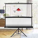 Duronic Projector Screen TPS86/43 (Black) Projection Screen For | School | Theatre | Cinema | Home | Tripod Projector Screen - 86- 4:3 Screen (Screen: 175cm (W) X 131cm (H)