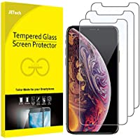 JETech Screen Protector for Apple iPhone XS and iPhone X, Tempered Glass Film, 3-Pack
