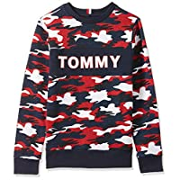 Tommy Hilfiger Boy's AOP Sweatshirt, Blue, 6 Years