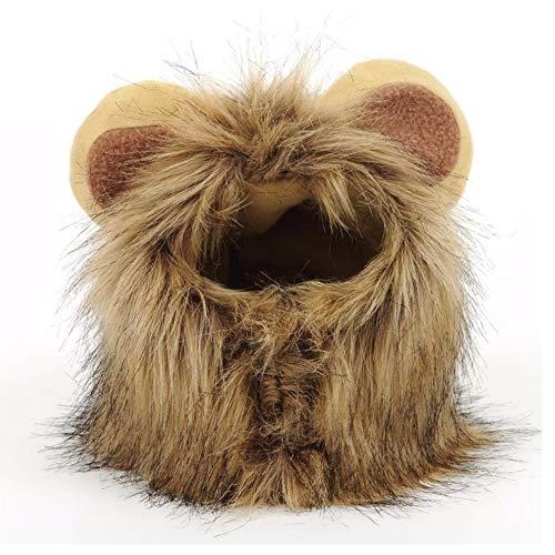 JTMM Mähne Perücke für Katze und Kleiner Hund - Katze Löwe Kostüm-Halloween-Kleid mit Ohren Pet Festival Party Fancy Haar Katze ()