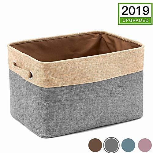 Sainode Ordnungsbox kiste 4-lagige Unterseite, große Stoff-Aufbewahrungsboxen für Kleidung/Spielzeug (3 Stück, Blau) kleiderschrank unterwäsche 1 Stück Grau -