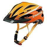 Fahrradhelm Helm Cratoni Pacer. orange-white matt - Visier schwarz. Gr. S-M (54-58 cm)