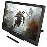 Huion GT-220V2 Schwarz Grafiktablet mit Display 21.5 Inch Interaktive Zeichnung Monitor Display IPS Panel HD Auflösung (1920x1080)