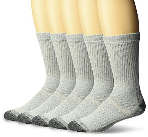 Gry Arbeit Socke (Fruit of the Loom Lässige Arbeitsteam Socken für Männer (5-Pack) Schuhgröße: 12.06 US (Groß) Grau)