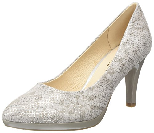 Caprice Damen 22414 Pumps Grau (Grey Snake Mul 247)