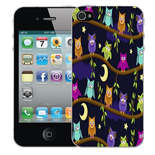 Nouveau iPhone 5s clip on Dur Coque couverture case cover Pare-chocs - natures bounty Motif avec Stylet moon owls