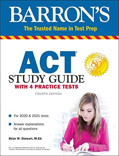ACT Study Guide with 4 Practice Tests (Barron's Test Prep) - Barron Act-test