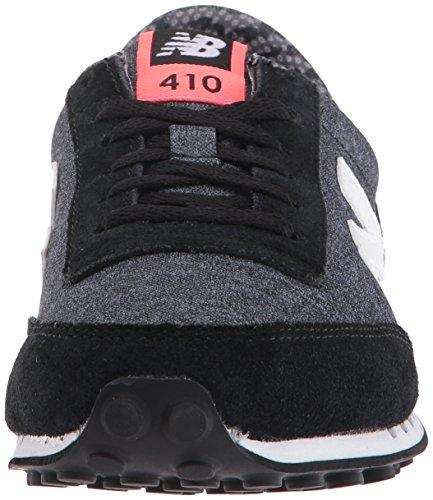 New Balance 410, Baskets Basses Femme Noir (Black)