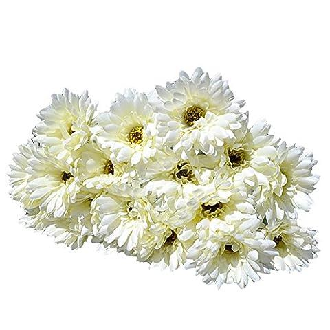 YIMING 10pcs Silk Gerbera Artificial Daisy Flowers Home Garden decorative