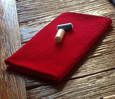 Pre cut 1m piece of LIPSTICK RED Cotton Dressmaking Velvet