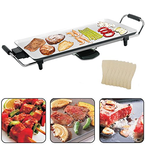vivo-c-ceramic-electric-teppanyaki-table-top-grill-griddle-bbq-barbecue-camping-8-spatulas-with-non-