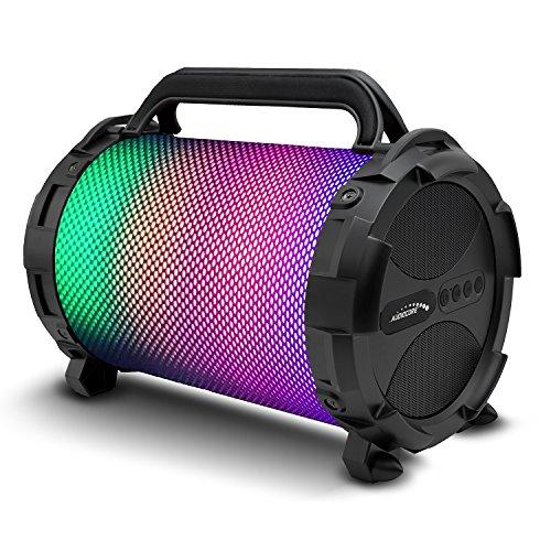 Audiocore altavoz tipo bazooka, bazuka, bluetooth, FM, tarjeta microSD, (AC885 LED), compatible con smartphones y tabletas