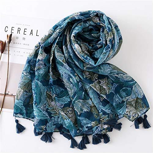 MAOSITIAN Seidenschal Lange Schals Mode Schals Viskose Shaw Hijab Schal Tropical Print Strandkleid Top Sommer Schal Für Frauen Damen -