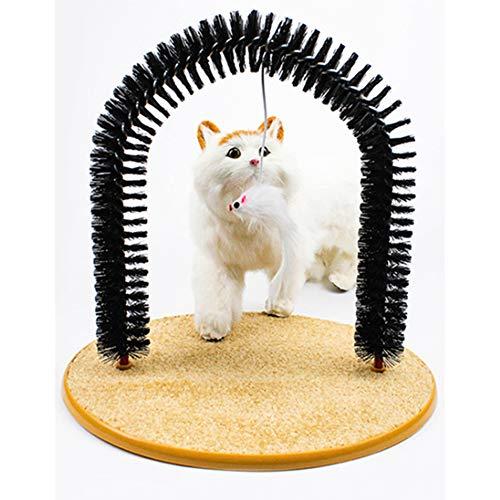 , Haustierkatze, die das Jucken, automatische Massagejuckvorrichtung der Bogentypkatze, Haustierversorgungen verkratzt ()