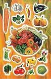 Légumes oignon Radi schen poivrons Carotte autocollants 15pièces 1feuilles 270mm x 180mm Stickers bricolage enfants PARTY