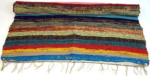 Patchwork brut quilt, patchwork tapis de 180 * 95 cm / tapis de chiffon et des nattes de paille