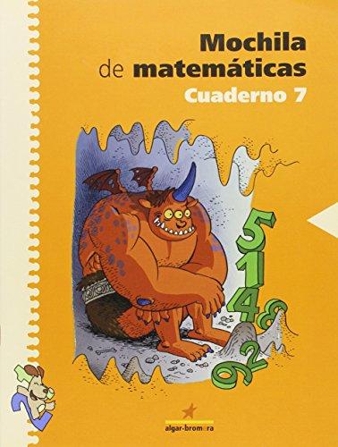 Mochila de matemáticas. Cuaderno 7: Primaria. 3r curso - 9788498450057