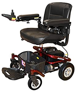Roma Medical Reno II Powerchair Electric Indoor Travel Chair - Flame Red