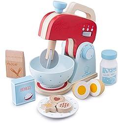 New Classic Toys - 10702 - Jeu D'imitation - Cuisine - Ensemble - Robot Mixer - Rouge