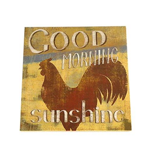 n Guten Morgen Sonnenschein Brief aus Holz Plaque-Wand-Dekor-hängender Anhänger Zeichen-Brett für Bauernhof Farm Plank ()