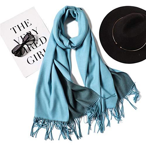 HAZVPO Winter Schal Double Side Damenschals Warme Und Weiche Kaschmirschal Lady Schals-20,200cm X 70cm