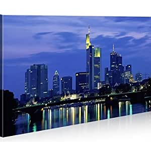islandburner bild bilder auf leinwand frankfurt 1p xxl poster leinwandbild wandbild. Black Bedroom Furniture Sets. Home Design Ideas