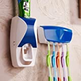 #1: ZURU BUNCH Automatic Toothpaste Dispenser Squeezer & Toothbrush Holder With Case
