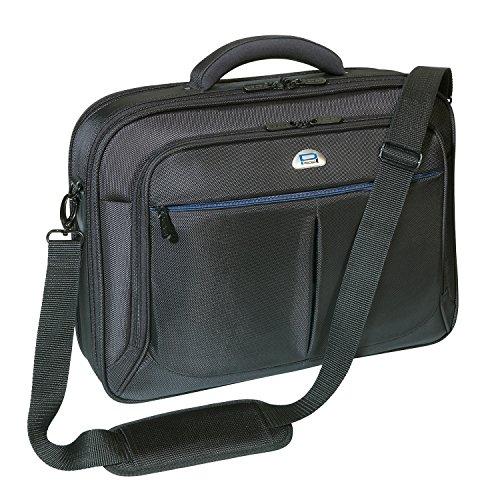 PEDEA Premium Notebooktasche 43,9cm (17,3 Zoll) inkl. Tablet-PC Fach, schwarz (17 Premium-aktentasche)