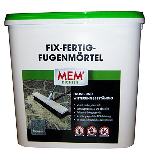 MEM Fix&Fertig Fugenmörtel, steingrau, 12,5 kg - Fugenmörtel Naturstein