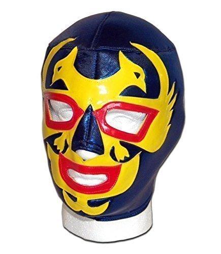 Dos CARAS blau/gelb Erwachsene mexikanischen Wrestlers Lucha Libre Wrestling - Mexikanische Wrestling-cape