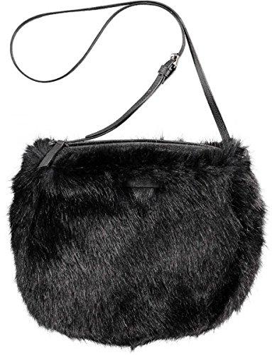 Barts-Sacco in finta pelliccia, colore: nero, da bambina, 19 x 23 cm, colori Nero