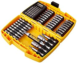 Dewalt DT71572-QZ screwdriver bit set in mini safe, 45 pcs