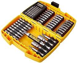 Dewalt Schrauberbit-Set in Minisafe (42-tlg. 25 mm + 50 mm Schrauber-Bits, in robustem Tough Case, zusätzlich mit Magnet-Steckschlüssel/-Bithalter mit Führungshülse) DT71572