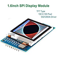 Innovateking-EU Módulo de Pantalla LCD Arduino I2C OLED Pantalla LCD TFT Arduino, Pantalla LCD SPI de 1,6 Pulgadas, Driver 3.3V / 5V 130x130 SSD1283A, para Arduino D1 Mini