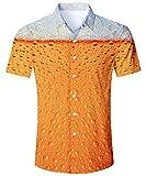 TUONROAD Hawaiihemd Herren S-XL, Hawaiihemd Shirt Freizeithemd Kurzarm mit Modischem Druck