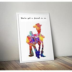 Disney inspirierte Spielzeuggeschichte, Woody Poster A4 8.3 x 11.7 Zoll