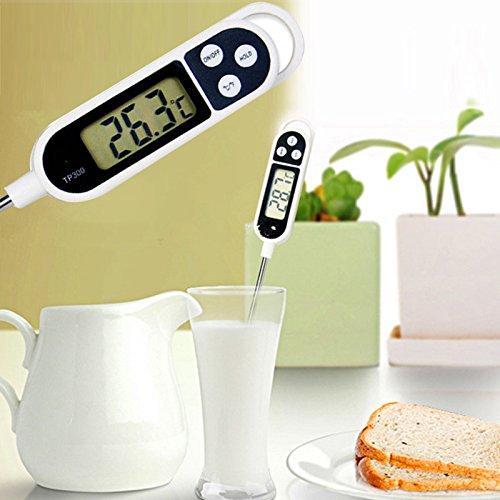 Honsin New Digital Food Thermometer BBQ Kochen Fleisch Heißwasser Measure Probe Kitchen Tool (Food-probe Kit)