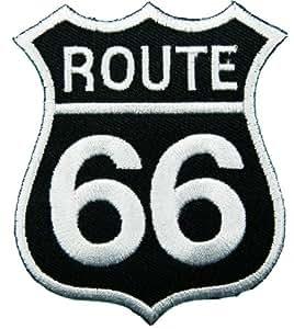 ecusson Route 66 patches Logo Sign Symbol Emblème Ecusson brodé patche Patches black