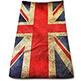 Rghkjlp United Kingdom British Map Flag Multipurpose Soft Highly Absorbent Cotton Hand Towels Quick Dry for Daily Use 30cm X 70cm