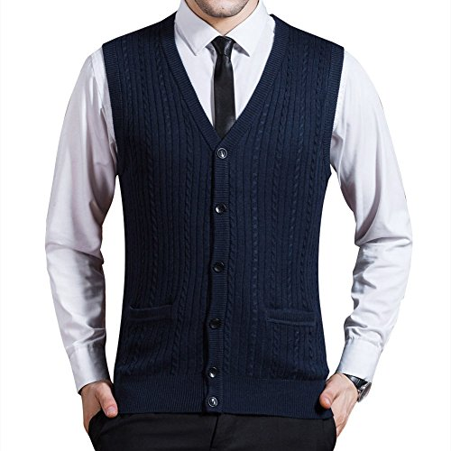 zicac-mens-spring-winter-v-neck-sleeveless-vest-solid-color-classic-style-business-gentleman-knitwea