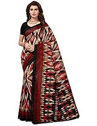 Calendar Women's Latest Design Bhagalpuri Silk Saree With Blouse Piece(CS1982_Multi-Color_Free_Size)