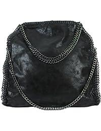 Borsa a mano da donna con catena (nero schwarz01)