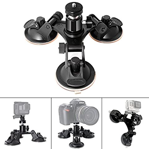Fantaseal¨ Super Tri-Cup Camera Suction Mount DSLR Camera Action Cam